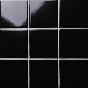 Kakeldekor svart